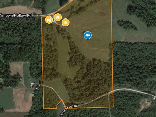 Hunting Farm With Crp Income : Hardin : Calhoun County : Illinois