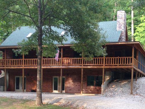 Gated Community, Log Home, River : Pottersville : Ozark County : Missouri