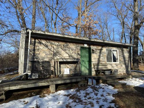 2 Primitive Cabins on 2 Acres : Keosauqua : Van Buren County : Iowa