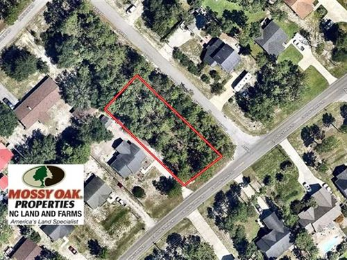 Residential Lot For Sale in Brunsw : Boiling Spring Lakes : Brunswick County : North Carolina