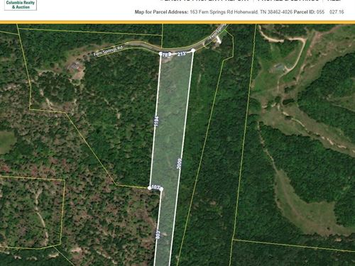 10 Acres Land Hohenwald, Lewis CO : Hohenwald : Maury County : Tennessee