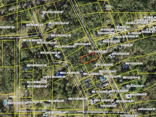 Residential Lot in Established Area : Quincy : Gadsden County : Florida