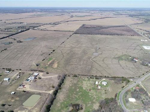 Pasture Land With 4 Stocked Ponds : Brookston : Lamar County : Texas