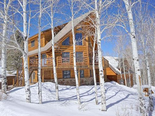 Ridgway Colorado Mountain Log Home : Ridgway : Ouray County : Colorado