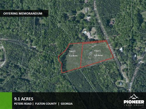 9.1 Acres Peters Rd, Fulton County : Fairburn : Fulton County : Georgia