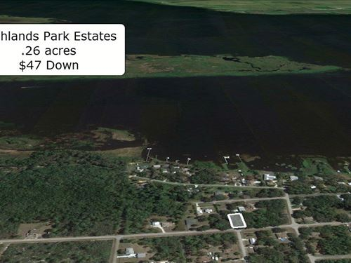 .26 Acre in a Lake Community : Lake Placid : Highlands County : Florida