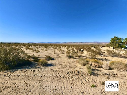 Fantastic Investment Near Town : Twentynine Palms : San Bernardino County : California