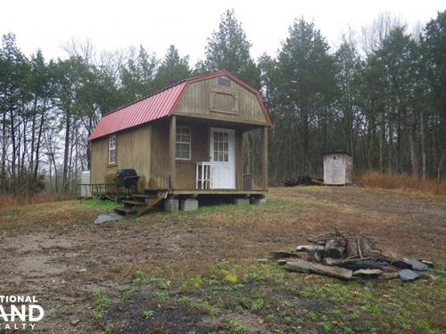 Hunting Cabin on 41 Acres : Burkesville : Cumberland County : Kentucky