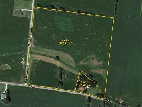 Home and 2.5 Acres, 38.2 Acres Crop : Kenton : Gibson County : Tennessee