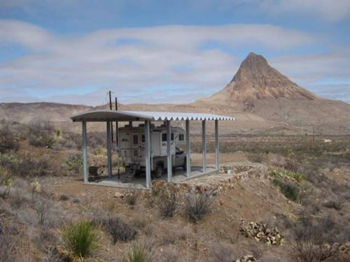 20 Acres, Nice Terrain And Large CA : Terlingua : Brewster County : Texas