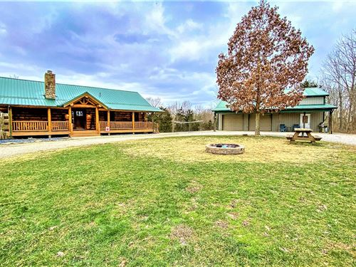 Log Home Acreage Located Southern : Manchester : Brown County : Ohio