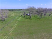 Hayfield and Barn in Conecuh County : Castleberry : Conecuh County : Alabama
