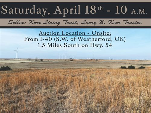 Farmland, Investment Opportunity : Weatherford : Caddo County : Oklahoma