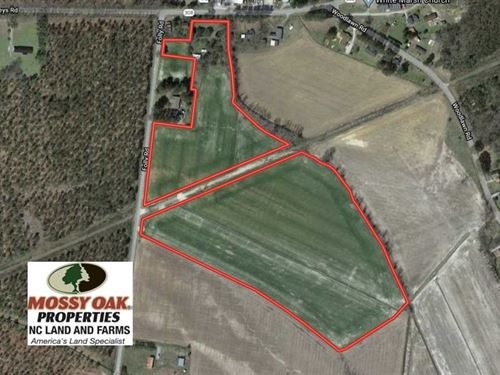 25 Acre Farm For Sale in Washingto : Roper : Washington County : North Carolina