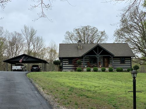 Log Home, Camden Tennessee, KY Lake : Camden : Benton County : Tennessee
