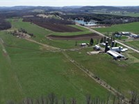 Farmland with Rolling Hills & Woods : Pompey : Onondaga County : New York