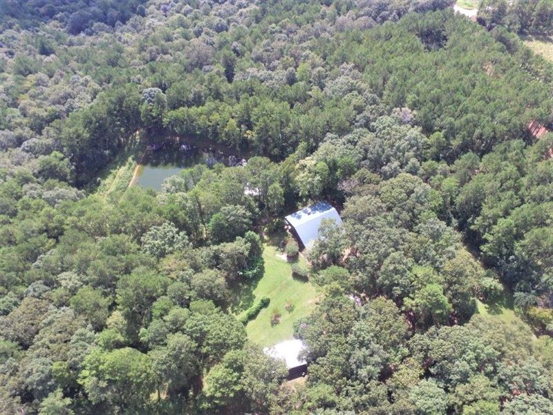 Spacious Lodge, Hardwoods, Ponds : Ariton : Dale County : Alabama