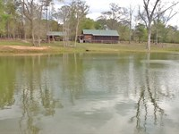 Hillier Cabin and Pond : Dozier : Crenshaw County : Alabama