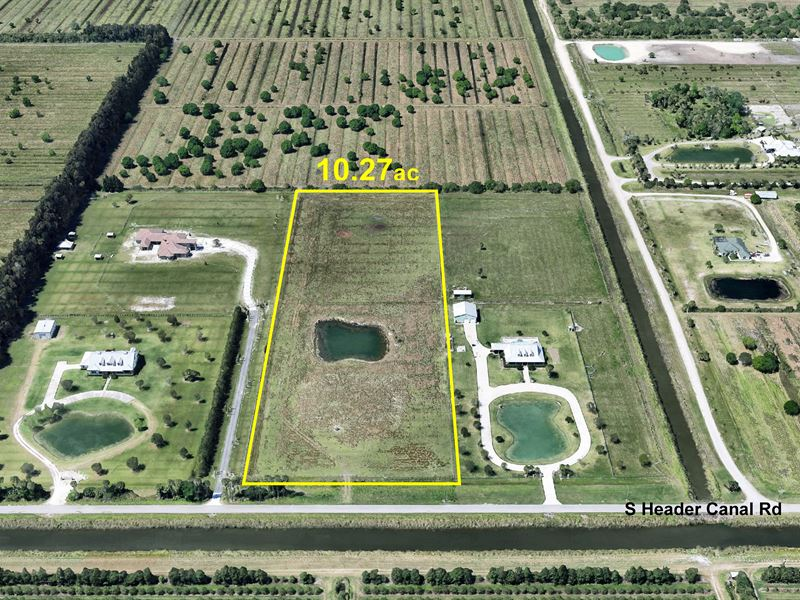 10+Ac Estate Site, Ready to Build : Fort Pierce : Saint Lucie County : Florida