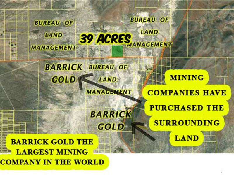 NV Ranch with Minerals, Gold Area : Crescent Valley : Eureka County : Nevada