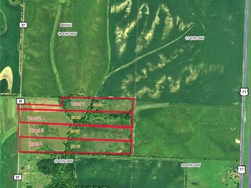 15 Ac Great Building Site, Hunting : Rosendale : Andrew County : Missouri