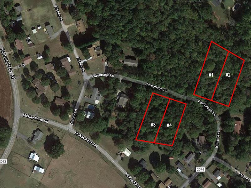 4 Treed Lots Only $8,250 Each : Newton : Catawba County : North Carolina