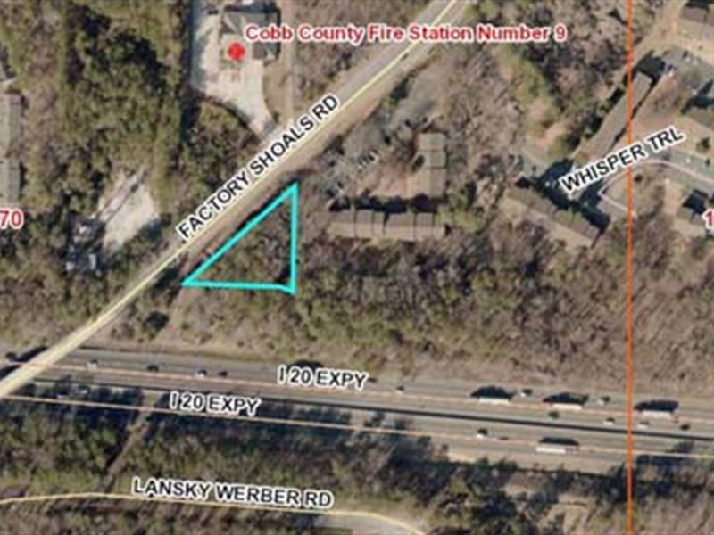 Commercial Lot Selling Absolute : Austell : Cobb County : Georgia