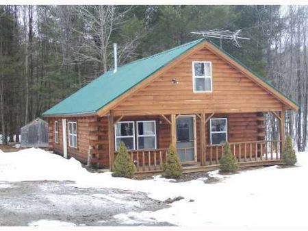 Beautiful Maine Log Cabin Land For Sale Starks