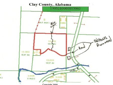 Ac153- 13 Acres : Ashland : Clay County : Alabama