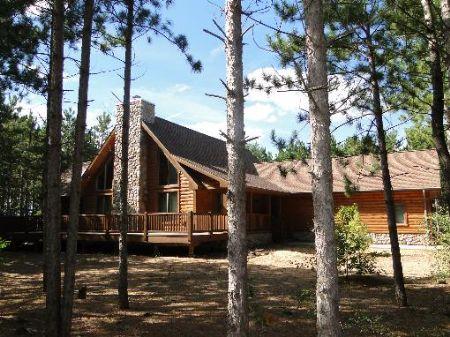 Custom Log Home At Lake Petenwell : Nekoosa : Juneau County : Wisconsin
