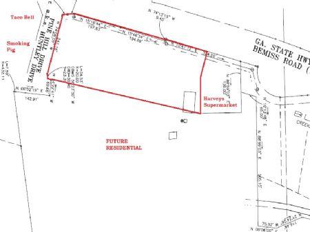7.5 Acres Commercial Land Bemiss Rd : Valdosta : Lowndes County : Georgia