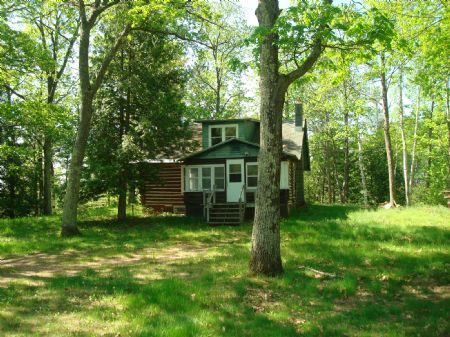 Crawling Stone Lake Home And 15 Ac : Lac Du Flambeau : Vilas County : Wisconsin