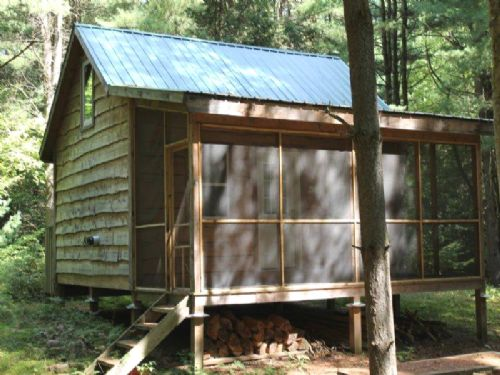 Cabin 6+ Acres Private Wooded Land : Constantia : Oswego County : New York