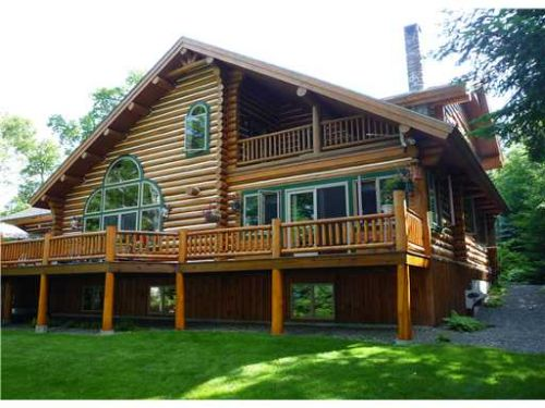 Moosehead Lake Log Home : Big Moose Twp : Piscataquis County : Maine