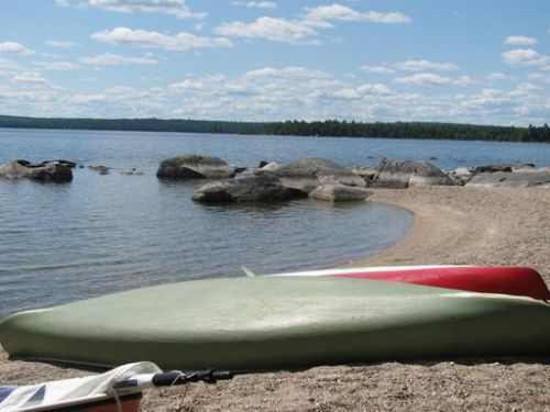 Quartette Camp On West Grand Lake : Grand Lake Stream : Washington County : Maine