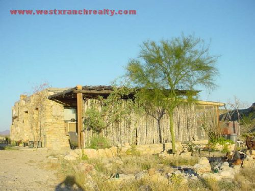 87 Acres With Off Grid Rock Home : Terlngua : Brewster County : Texas