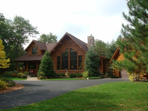 Gorgeous Chalet Log Home On 13 Ac : St Germain : Vilas County : Wisconsin