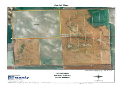 Farmland 160 Acres : Allen : Bennett County : South Dakota
