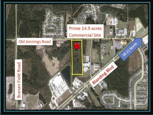 14.9 Acres Prime Commercial Land : Middleburg : Clay County : Florida