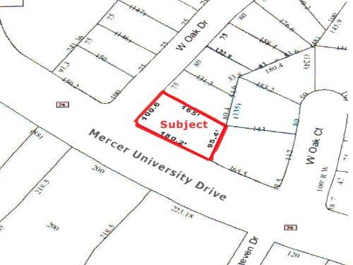 Commercial Land .38 Acres : Macon : Bibb County : Georgia