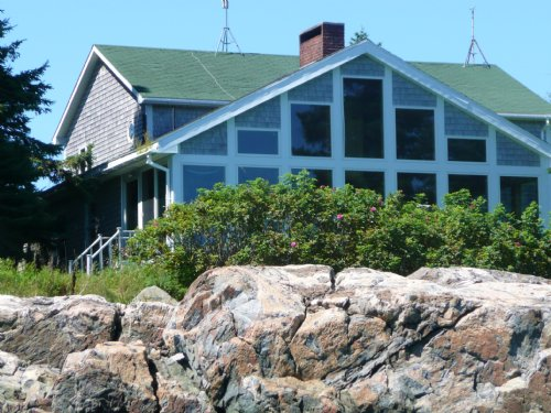 Loon Point Oceanfront Home +acreage : Jonesport : Washington County : Maine