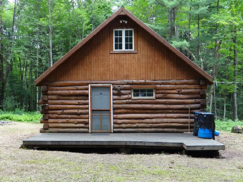 43 Acres Log Cabin Borders Forest : Mcdonough : Chenango County : New York