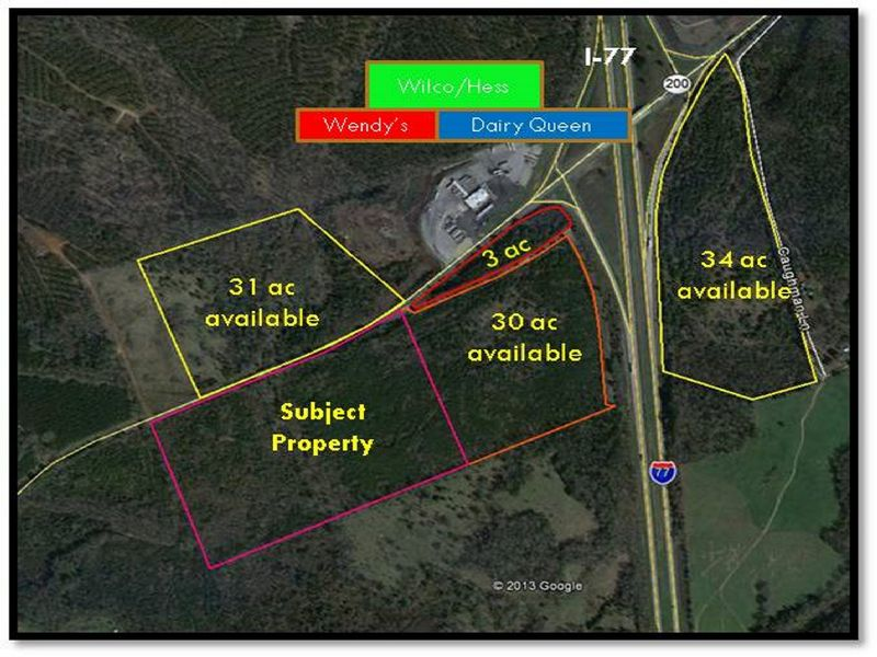 I-77 & Hwy 200 Interchange 50ac : Winnsboro : Fairfield County : South Carolina