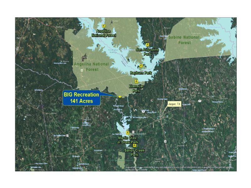 141 Acres- Big Recreation : Jasper : Jasper County : Texas