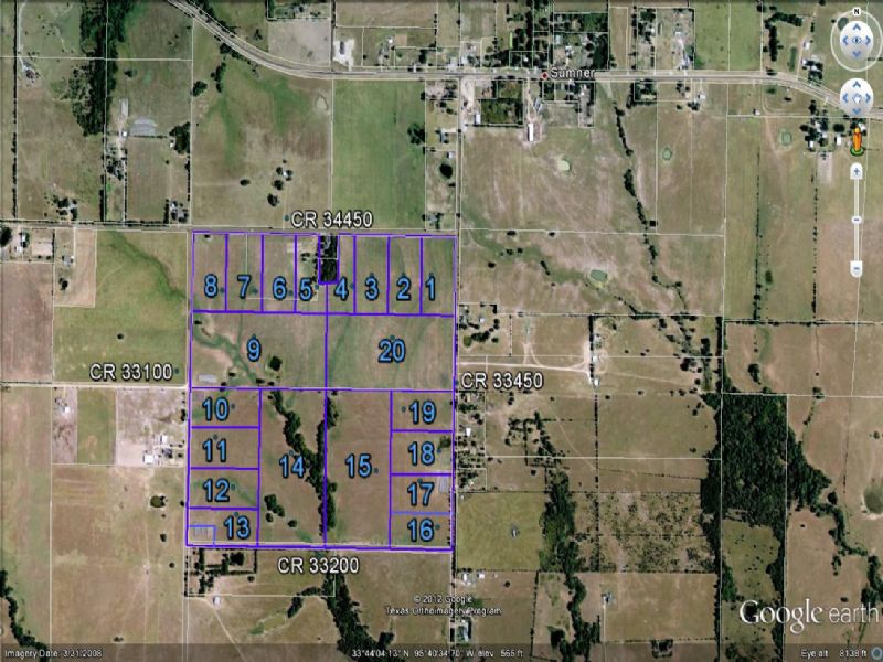Undeveloped Land For Sale : Sumner : Lamar County : Texas