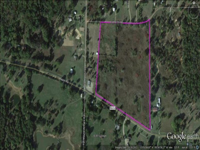 Recreational Land For Sale : Forest Chapel : Lamar County : Texas