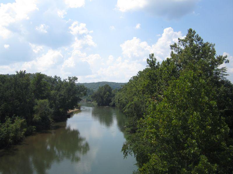 Meramec River At Campbell Bridge : Bourbon : Crawford County : Missouri