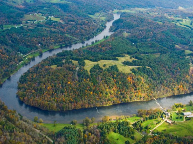 Eagle View - Located On  New River : Galax : Grayson County : Virginia