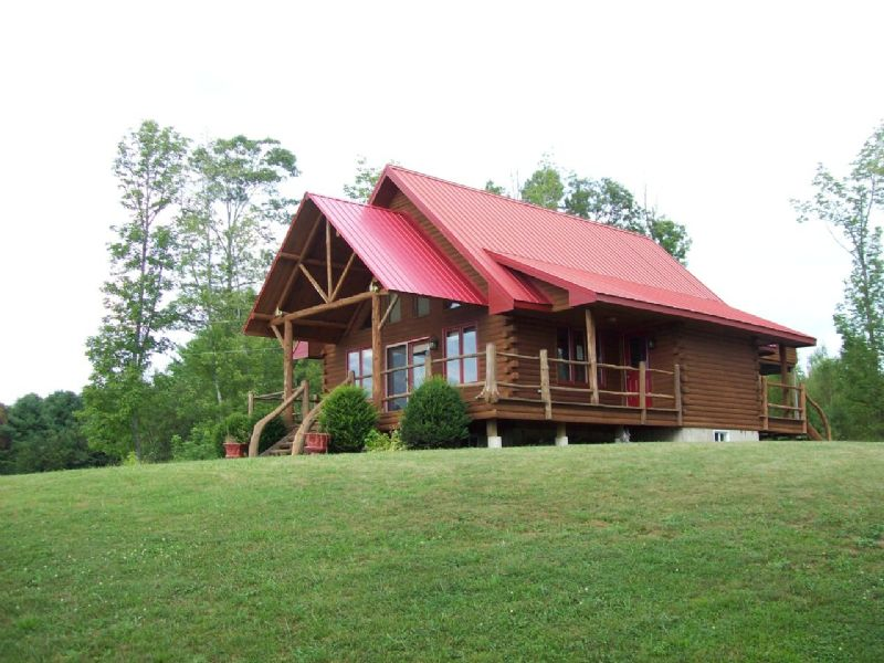 Custom Log Home : Princeton : Washington County : Maine