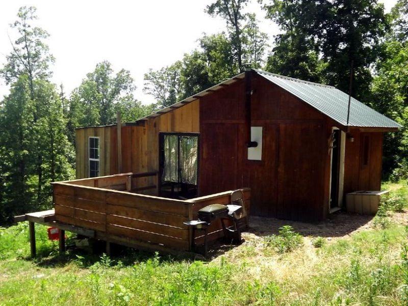 9.6 Acres With Cabin : Vanzant : Douglas County : Missouri